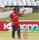 Gulam Bodi celebrates his half-century, Lions v Sydney Sixers, Group B, Champions League T20, Cape Town, October 18, 2012