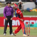 Aaron Phangiso bowled a tight spell, Lions v Sydney Sixers, Group B, Champions League T20, Cape Town, October 18, 2012