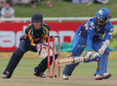 Dinesh Karthik reverse-sweeps, Mumbai Indians v Yorkshire, Group B, Champions League T20, Cape Town, October 18, 2012