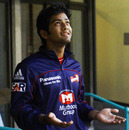 Delhi Daredevils' Unmukt Chand watches the rain in Durban, Auckland v DD, Group A, Champions League T20, Durban, October 19, 2012
