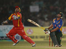 Mohammad Shahzad and Nasir Jamshed eye the ball, Pakistan All Star XI v International XI, Karachi, October 20, 2012