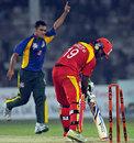 Tabish Khan took an all-bowled hat-trick, Pakistan All Star XI v International XI, 1st Twenty20, Karachi, October 20, 2012