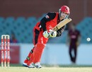 Phillip Hughes works one through the leg side, South Australia v Queensland, Ryobi Cup, Adelaide, October 21, 2012