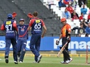 Delhi Daredevils players celebrate Herschelle Gibbs' wicket, Delhi Daredevils v Perth Scorchers, Champions League T20, Cape Town, October 21, 2012