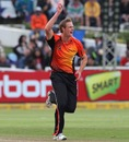 Joe Mennie celebrates a wicket, Delhi Daredevils v Perth Scorchers, Champions League T20, Cape Town, October 21, 2012
