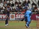 L Balaji bowled Heino Kuhn, Kolkata Knight Riders v Titans, Champions League T20, Cape Town, October 21, 2012
