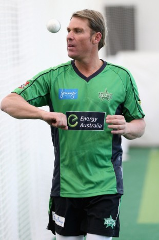 Shane Warne in the MCG nets, Melbourne, October 23, 2012