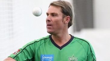 Shane Warne in the MCG nets