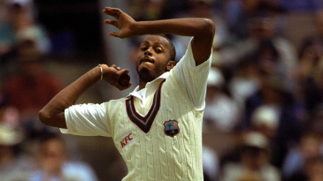 Courtney Walsh took two wickets in the first innings