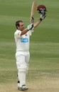 Wade Townsend celebrates his century, South Australia v Queensland, Sheffield Shield, Adelaide, 3rd day, October 25, 2012
