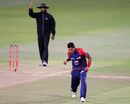 Umesh Yadav celebrates a wicket