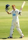 Andrew McDonald celebrates his century, Western Australia v Victoria, Sheffield Shield, Perth, 2nd day, October 1, 2012