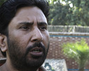 Saleem Malk talks to reporters in Lahore after applying for the post of Pakistan's batting coach, Lahore, October 25, 2012