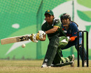 Mariam Hasan plays the sweep shot, India v Pakistan, ACC Women's T20 Asia Cup, Guangzhou, October 28, 2012