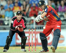 Dwaine Pretorius prepares to play a shot, Lions v Sydney Sixers, final, CLT20, Johannesburg, October 28, 2012