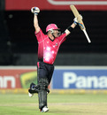 Brad Haddin celebrates after Sydney Sixers won the CLT20 final
