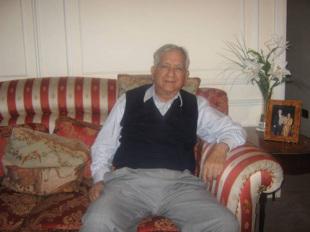 Waqar Hasan at his home in London