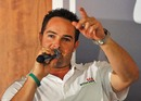 Mark Boucher speaks at the launch of a non-profit tie-up to preserve South Africa's rhinos