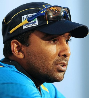 Mahela Jayawardene speaks at a press conference ahead of the first ODI, Pallekele, October 31, 2012