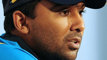 Mahela Jayawardene speaks at a press conference ahead of the first ODI