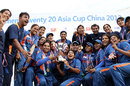 India Women celebrate with the Twenty20 Asia Cup, India v Pakistan, final, ACC Women's T20 Asia Cup, Guangzhou, October 31, 2012