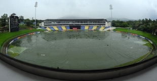 Wet scenes in Pallekele, Sri Lanka v New Zealand, 1st ODI, Pallekele, November 1, 2012