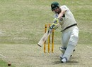 Steve Smith drives during his half-century