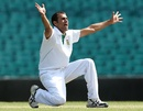 Imran Tahir appeals for a wicket, Australia A v South Africans, Sydney, 1st day, November 2, 2012