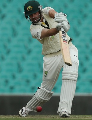 Alex Doolan drives during his innings of 161, Australia A v South Africans, Sydney, 2nd day, November 3, 2012