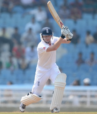 Jonny Bairstow drives on the off side, Mumbai A v England XI, Mumbai, 1st day, November 3, 2012