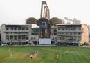 Play in progress at the DY Patil Sports Academy, Mumbai A v England XI, Tour match, 1st day, Mumbai, November 3, 2012