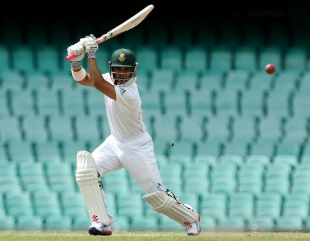 JP Duminy made 31 before he was bowled, Australia A v South Africans, Sydney, 3rd day, November 4, 2012