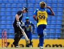 Tom Latham was bowled by Lasith Malinga for 2 off 18 balls