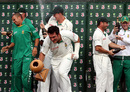 The champagne flows after South Africa's series win, Australia v South Africa, 2nd Test, Melbourne, 5th day, December 30, 2008