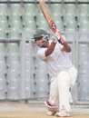 Mahesh Rawat drives enroute to his half-century, Mumbai v Railways, Group A, Ranji Trophy, Mumbai, 3rd day, November 4, 2012