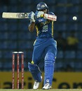 Tillakaratne Dilshan prepares to play a short delivery, Sri Lanka v New Zealand, 2nd ODI, Pallekele, November 4, 2012