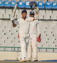 Jiwanjot Singh celebrates his double-century, Punjab v Hyderabad, Group A, Ranji Trophy, Mohali, November 4, 2012