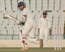 Jiwanjot Singh plays a ball towards the leg side, Punjab v Hyderabad, Group A, Ranji Trophy, Mohali, November 4, 2012