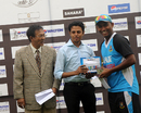 Asif Ahmed holds the man-of-the-match award, Dhaka Division v Dhaka Metropolis, National Cricket League 2012-13, 4th day, Mirpur, November 5, 2012