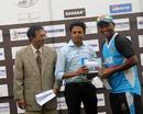 Asif Ahmed holds the man-of-the-match award, Dhaka Division v Dhaka Metropolis, National Cricket League 2012-13, 4th day, Mirpur, November 5, 2012