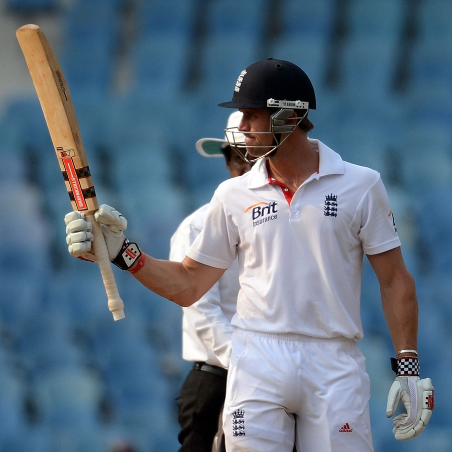 Nick Compton acknowledges reaching his fifty