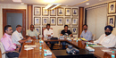 Saba Karim, Roger Binny, Sanjay Jagdale, Sandeep Patil, MS Dhoni, Vikram Rathour and Rajinder Singh Hans in BCCI's selection committee meeting, Mumbai, November 5, 2012
