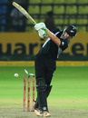 James Franklin is bowled, Sri Lanka v New Zealand, 3rd ODI, Pallekele, November 6, 2012