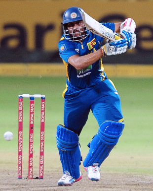 Tillakaratne Dilshan drives down the ground, Sri Lanka v New Zealand, 3rd ODI, Pallekele, November 6, 2012