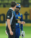 Tim Southee and Upul Tharanga exchange words