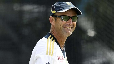 South Africa coach Gary Kirsten smiles at practice
