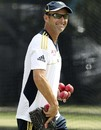 South Africa coach Gary Kirsten smiles at practice, Brisbane, November 7, 2012