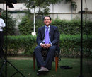 Mohammad Azharuddin addresses the press after a court struck down his life ban, Delhi, November 8, 2012
