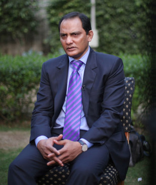 Mohammad Azharuddin after a court lifted his life ban, Delhi, November 8, 2012