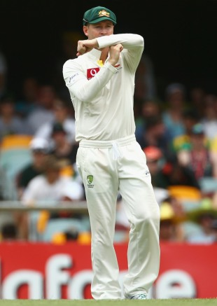 Michael Clarke asks for a review, Australia v South Africa, first Test, Brisbane, November 9, 2012